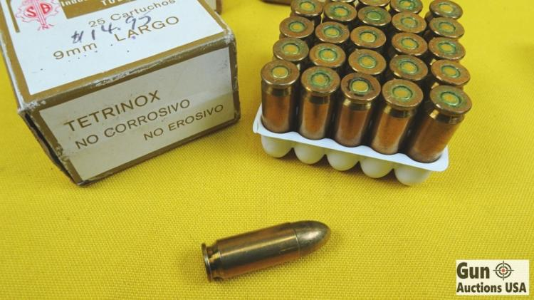 TETRINOX 9MM LARGO Ammo  4 Boxes of The Very Rare and Hard t