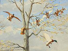 'Late Autumn', Richard Bishop (1887-1975), oil on board.