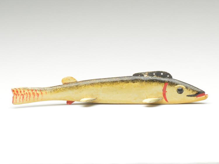 Fish decoy, Oscar Peterson, Cadillac, Michigan.
