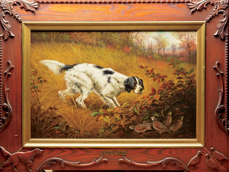 Oil on canvas board, William Mckendree Snyder (1849 - 1930), Cincinnati, Ohio and Liberty, Indiana.