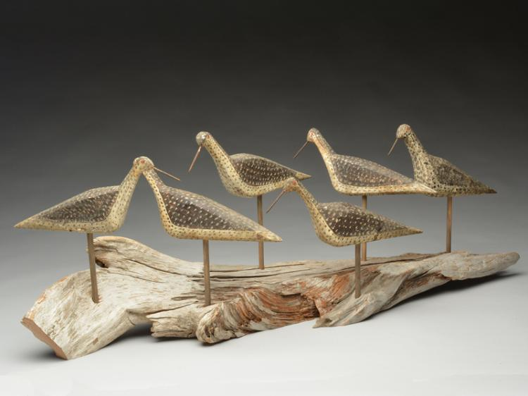 Set of 6 greater yellowlegs from New Jersey, last quarter 19th century.