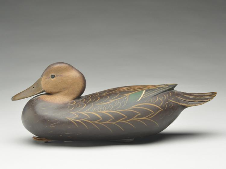 Lowhead style black duck, Bob White, Tullytown, Pennsylvania.