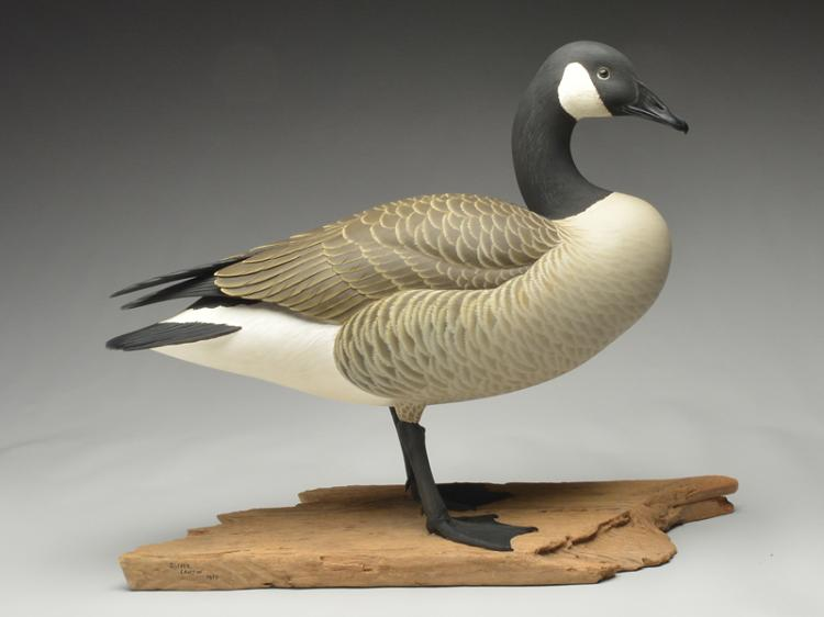 Outstanding full size standing Canada goose, Oliver Lawson, Crisfield, Maryland.