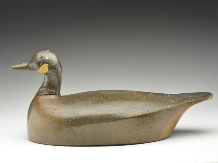 Hollow carved Canada goose, Phineas Reeves, Port Rowan, Ontario, 3rd quarter 19th century.