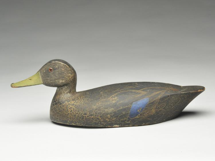 Hollow carved blackduck, Fred Croft, Belleville, Ontario.