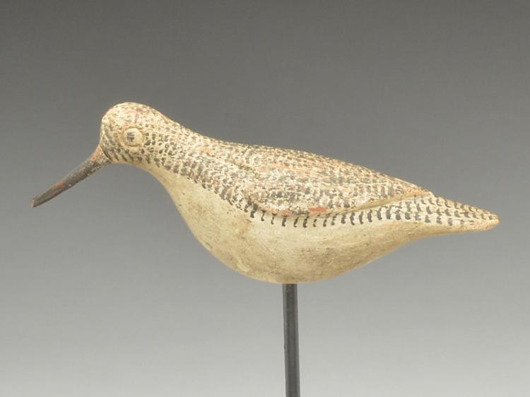 Running sandpiper Obediah Verity, Seaford, Long Island, New York, 3rd quarter 19th century.