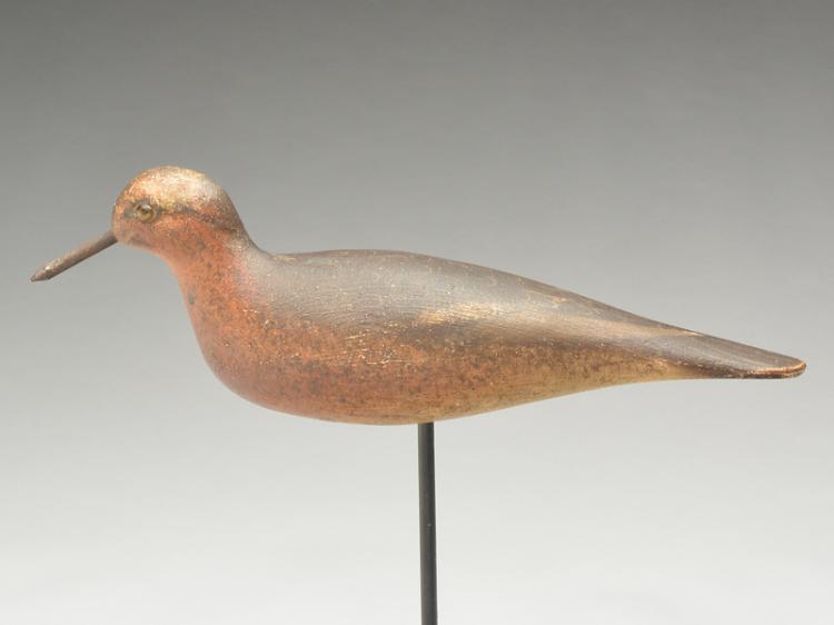 Very rare special order robin snipe in spring plumage, Mason Decoy Factory, Detroit, Michigan, circa 1910.