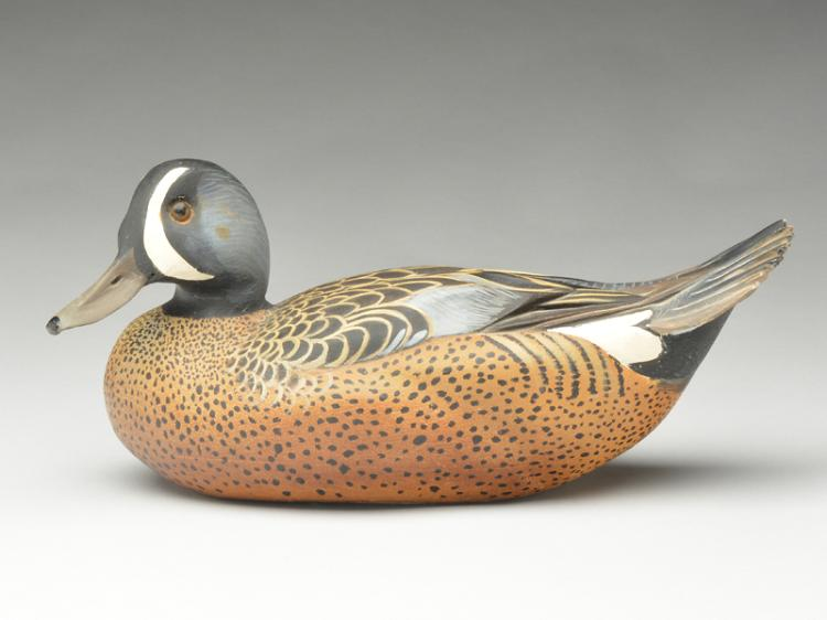 Full size decorative bluewing teal drake, Ward Brothers, Crisfield, Maryland.