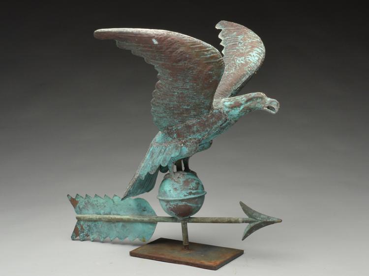 Copper eagle weathervane.