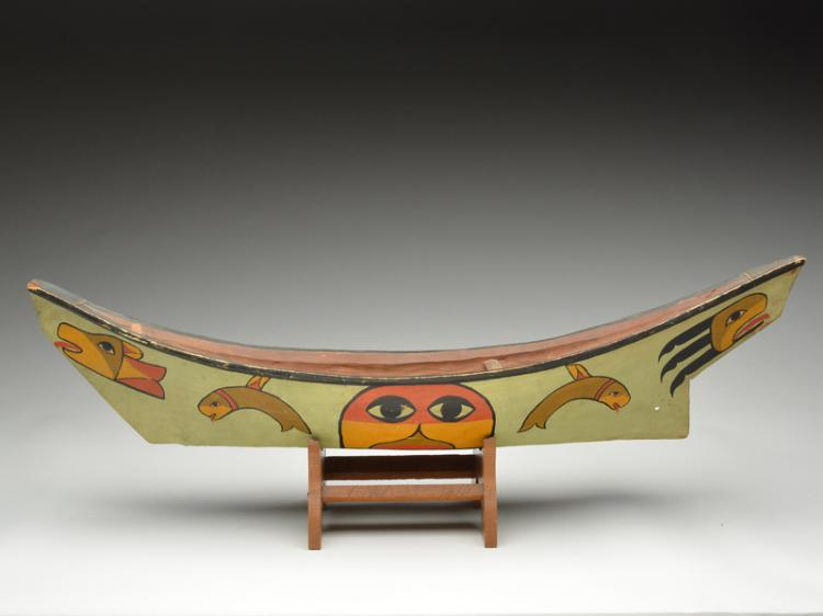 Wonderfully carved and painted Northwest Coast dugout canoe, 1st half 20th century.