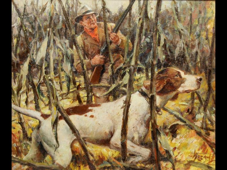 Upland Game Scene By Charles D Williams