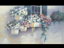 """""""Kitchen Window II,"""" an oil wash by Paul Landry."""