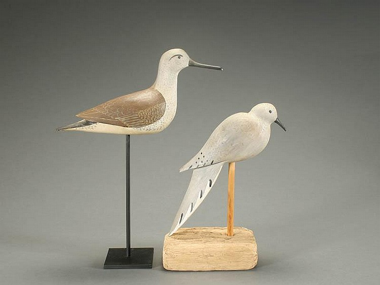 Two stick up decoys from New Jersey, 3rd quarter 20th century.