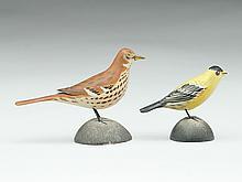 Two miniature songbirds, Elmer Crowell, East Harwich, Massachusetts.