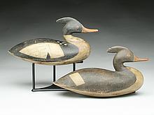 Pair of hollow carved mergansers, Mark McNair, Craddockville, Virginia.