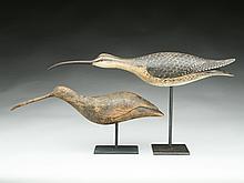 Two running shorebirds, Frank Finney, Capeville, Virginia.