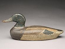 Hollow carved mallard drake from the Long Point Club, last quarter 19th century.