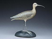 Full size whimbrel mantle carving, Elmer Crowell, East Harwich, Massachusetts.