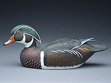Decorative wood duck drake, Jim Schmiedlin, Bradfordwoods, Pennsylvania.