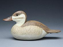 Decorative ruddy duck hen, Cigar Daisey, Chincoteague, Virginia.