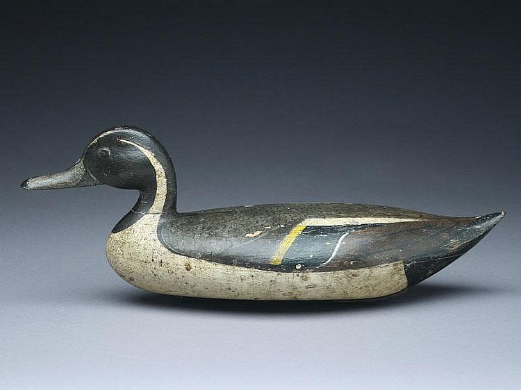 Rare hollow carved pintail drake, John Blair, Jr., Philadelphia, Pennsylvania, last quarter 19th century.
