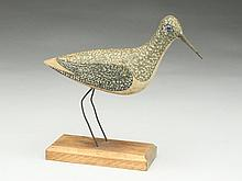 Rare hollow carved sandpiper by a member of the Chipman family, Sandwich, Massachusetts, last quarter 19th century.