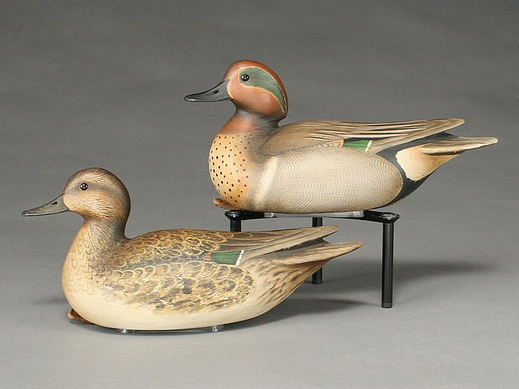 Pair of greenwing teal, William Gibian, Onancock, Virginia.