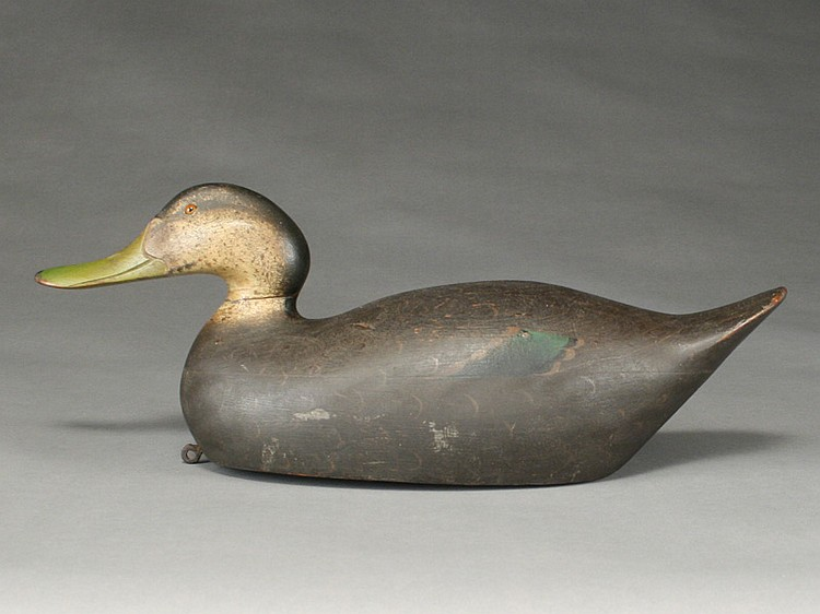 Blackduck with rare snakey head style, Mason Decoy Factory, Detroit, Michigan.
