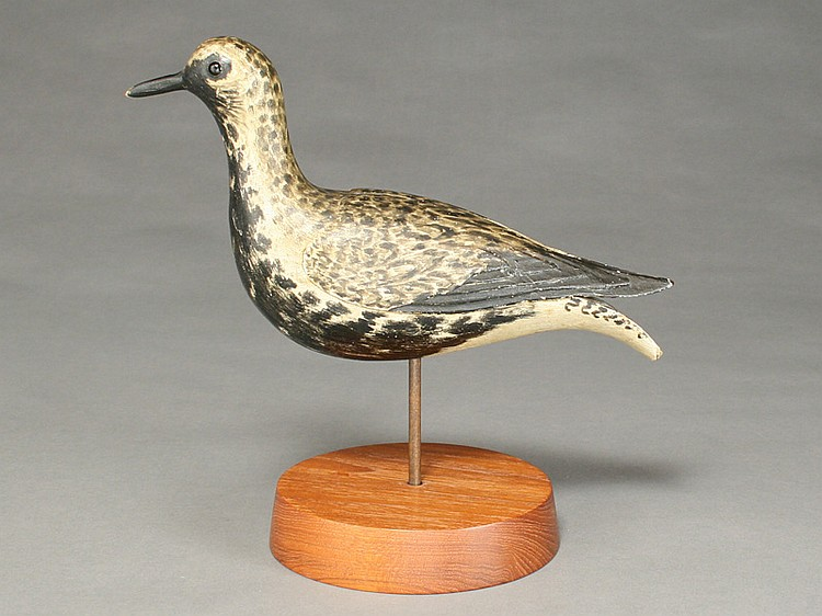 Rare and exceptional blackbellied plover, Elmer Crowell, East Harwich, Massachusetts, last quarter 19th to 1st quarter 20th century.