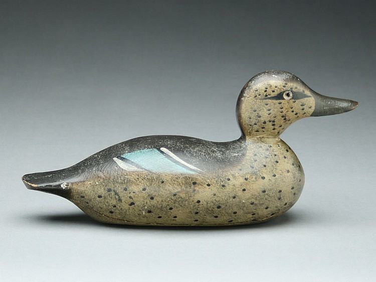 Bluewing teal hen, Hays Decoy Factory, Jefferson City, Missouri.