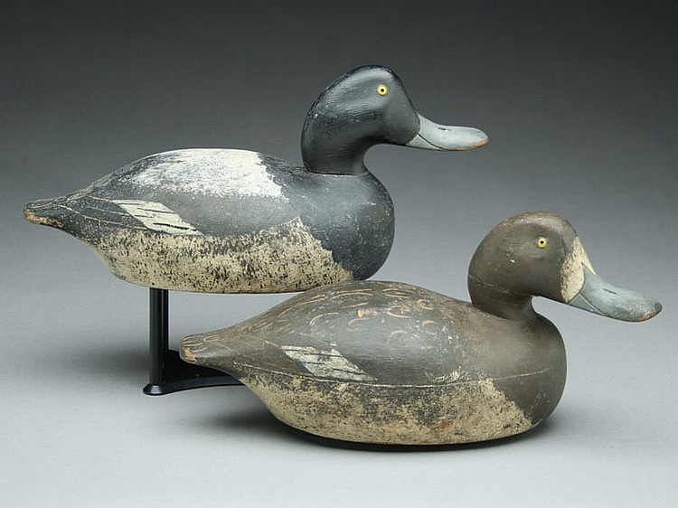 Pair of bluebills from Wisconsin, 1st quarter 20th century.