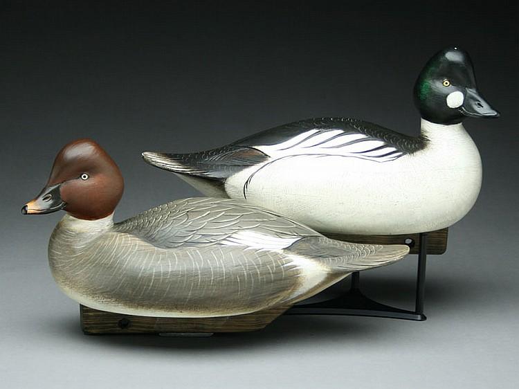 Rare and important pair of goldeneye, Jim Schmiedlin, Bradfordwoods, Pennsylvania.