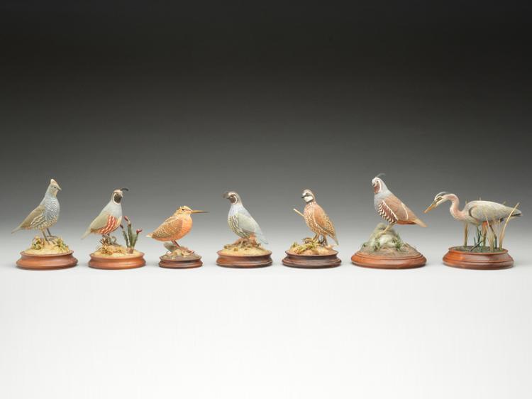 Seven miniatures, Ron Kagarise, Fort Washington, Maryland.