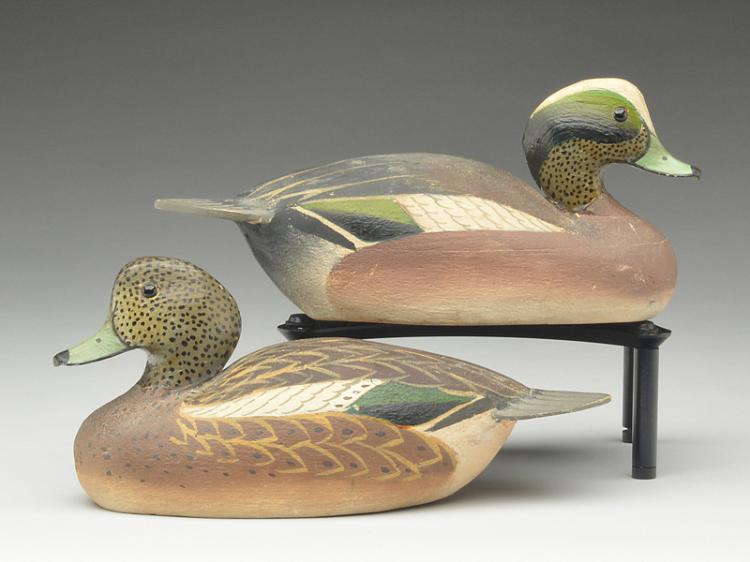 Pair of 1/4 size widgeon, Ward Brothers, Crisfield, Maryland.