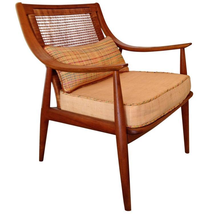 John Stuart For Widdicomb Caned Back Arm Chair