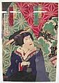 Kunichika, Toyohara, färgträsnitt, skådespelare,, Toyohara Kunichika, Click for value