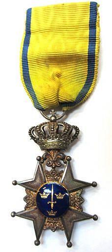 Ordenstecken, silver och emalj; Kungliga