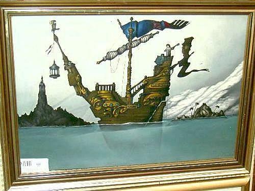 Boudon, Patrick, olja, surrealistisk komposition,