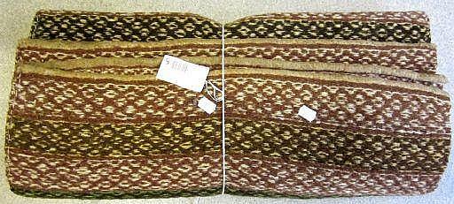 Vävnad, ylle, allmogearbete, 18-1900-tal