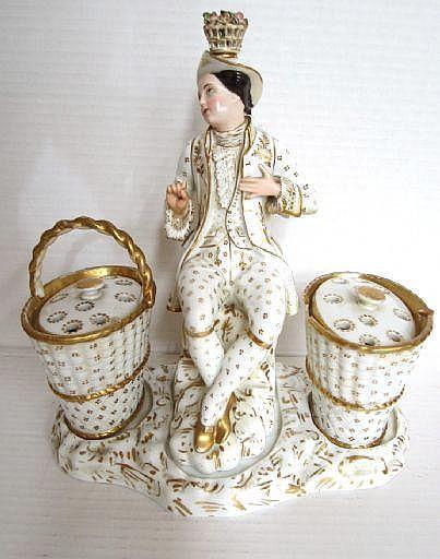 Bordsuppsats, porslin, Frankrike, 1800-talets 1