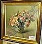 Stappers, Julien, olja, stilleben med rosor, sign,, Julien Stappers, Click for value