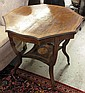 VICTORIAN INLAID ROSEWOOD SIDE TABLE