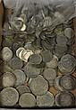 Myntparti, huvudsakligen silvermynt Total vikt ca