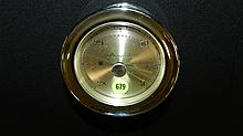 Vintage chrome Airguide ships barometer, COND VG. 3 3/4 x 5