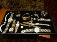 Nice tray of estate ladies jewelry, with watches etc, NO tray