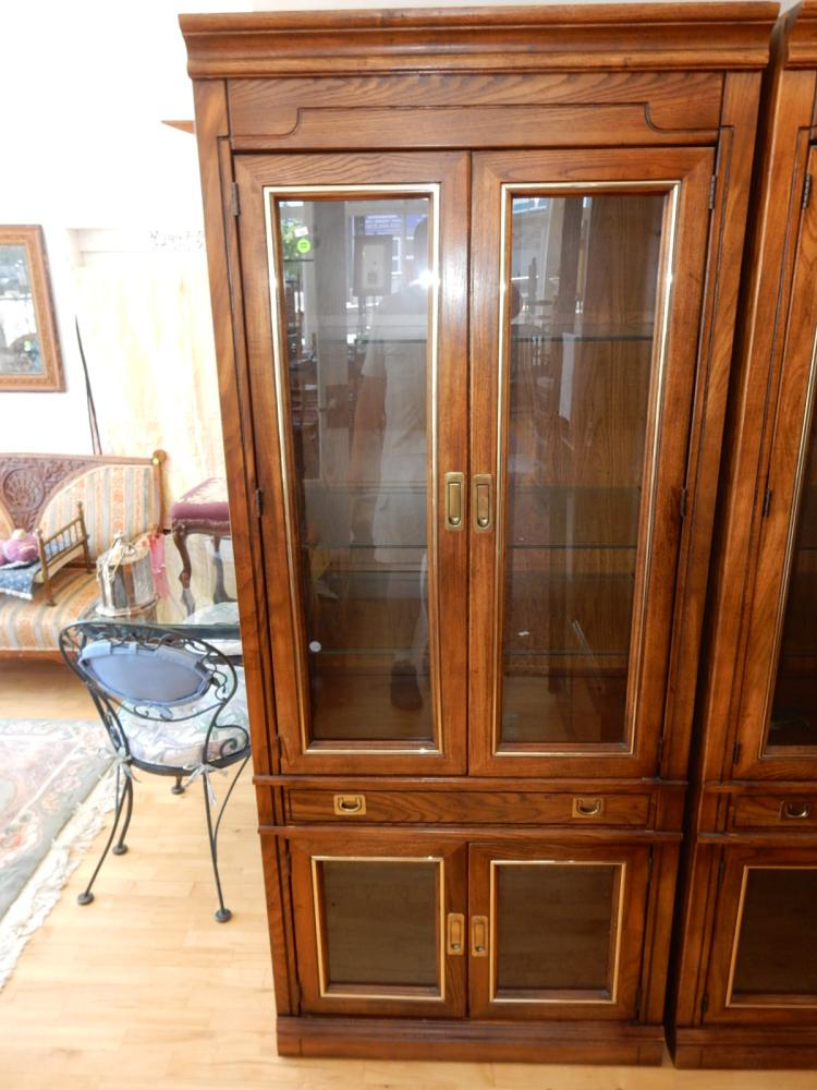 Modern Lighted Display China Cabinet Cannot Ship In House
