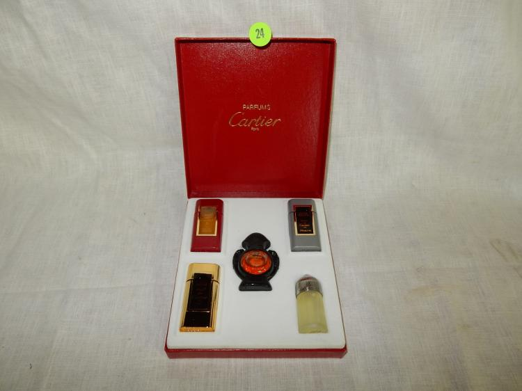 Vintage Panthere De Cartier Perfume Gift Set In Box Cond V