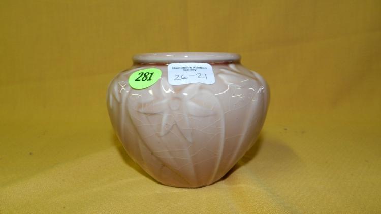 Vintage Rookwood Vase With Floral Design 6431 Lvi 1956