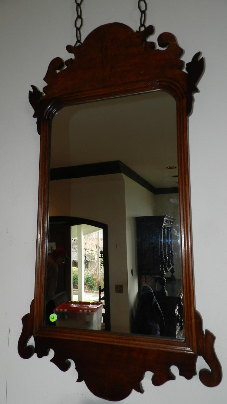 Antique carved federal style wall mirror for Antique style wall mirror