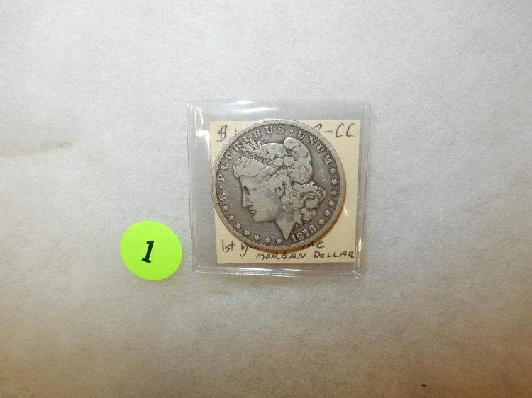 Nice U.S. Morgan silver dollar 1878-CC (first year of issue)